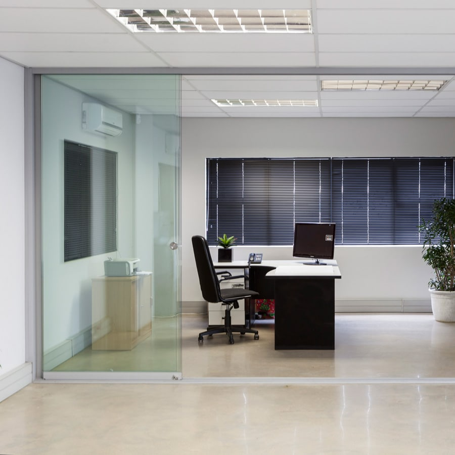 commercial glass room divider